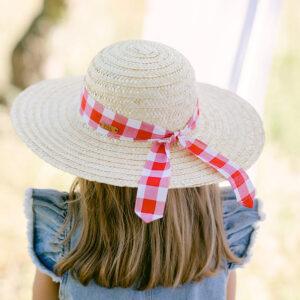 chapéu palha criança